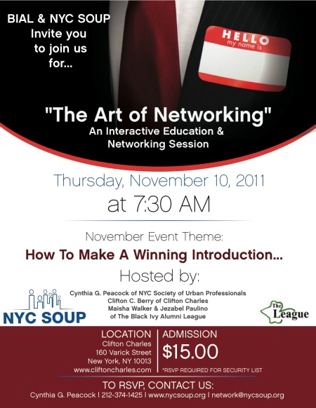 The Art of Networking Flyer